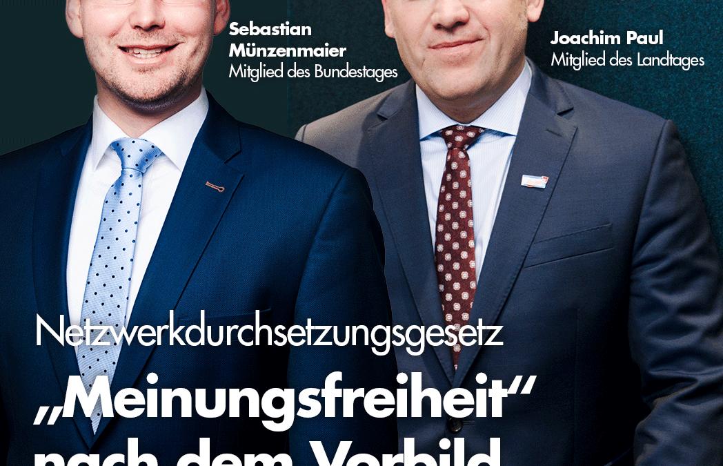 Paul & Münzenmaier: NetzDG abschaffen!