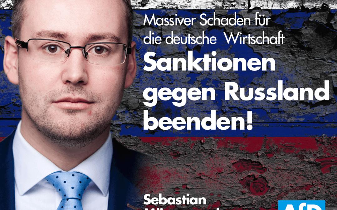 Pressemitteilung: Politisch wirkungslose Russland-Sanktionen sofort beenden!