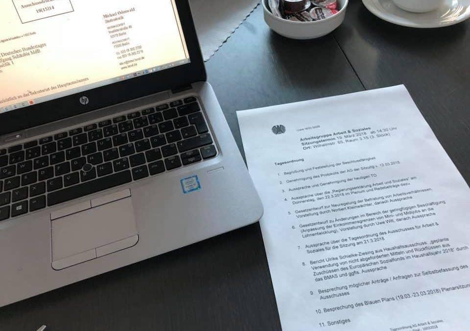 Bericht aus Berlin – KW 12