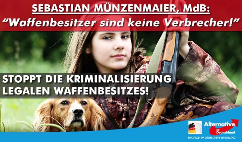 Sebastian Münzenmaier: Waffenbesitzer sind keine Verbrecher