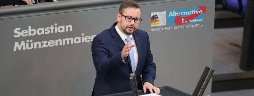 Sebastian Münzenmaier im Bundestag