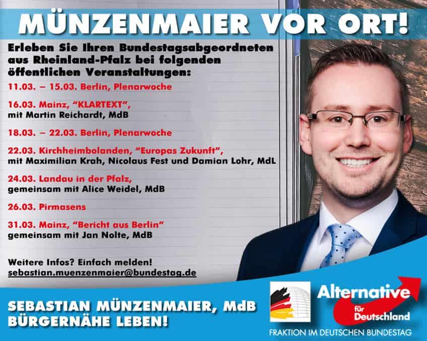 Sebastian Münzenmaier vor Ort - März 2019