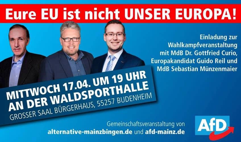 Gottfried Curio, Guido Reil & Sebastian Münzenmaier - Veranstaltung