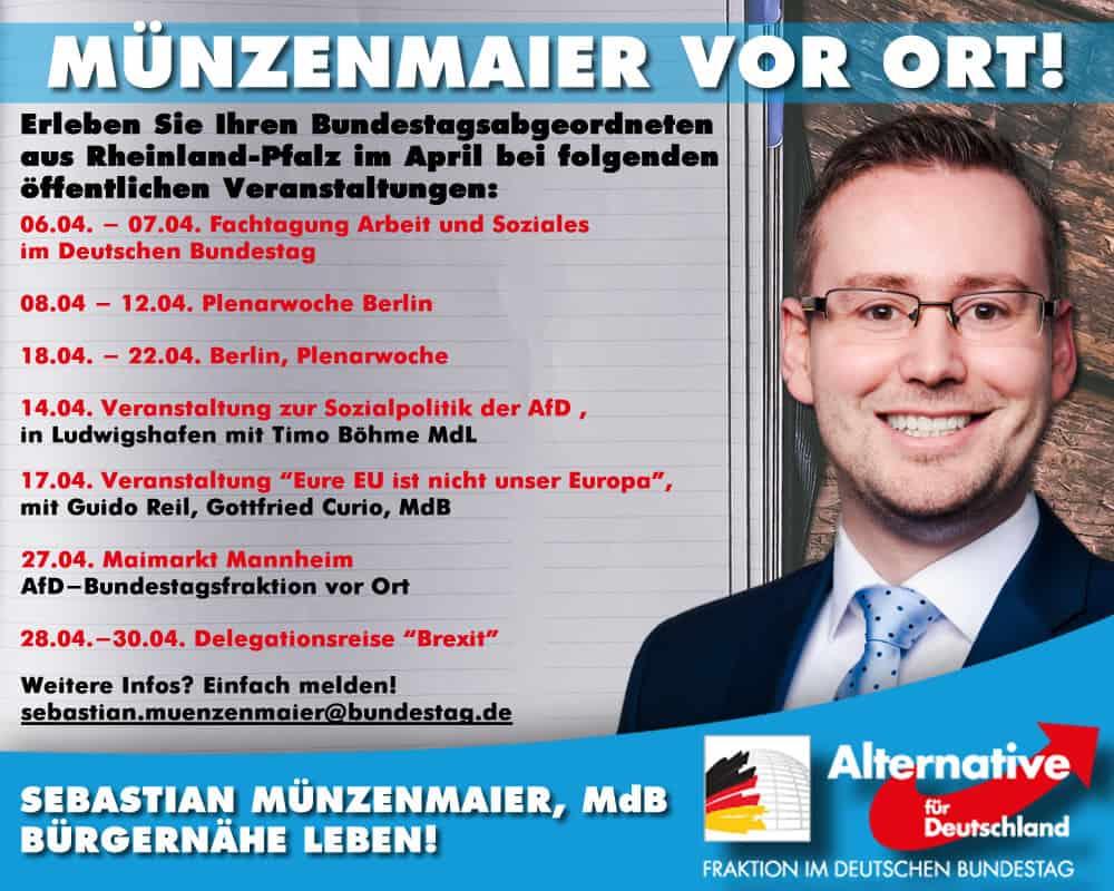 Sebastian Münzenmaier vor Ort - April 2019