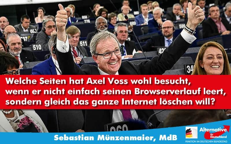 Axel Voss liebt Uploadfilter