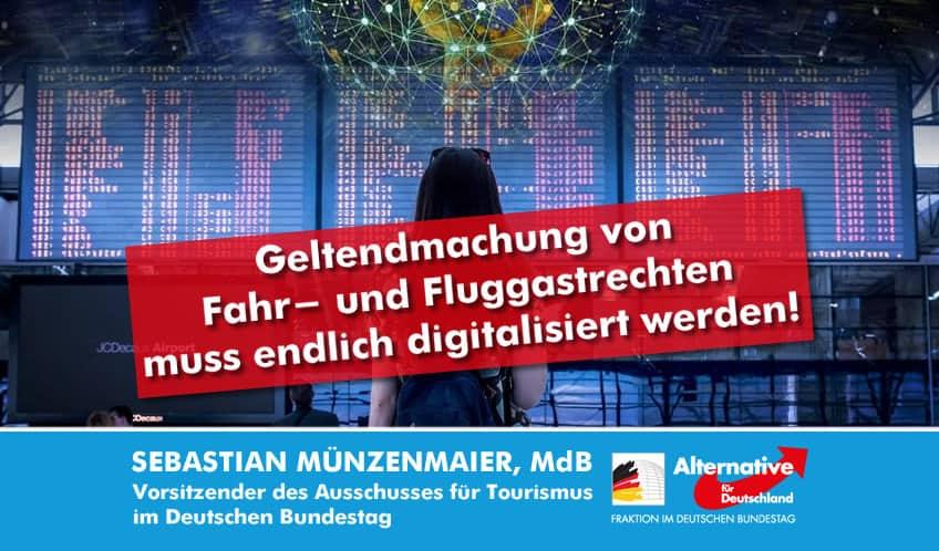 Digitalisierung der Fahr- und Fluggastrechte