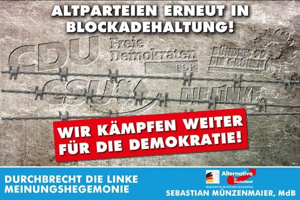 Altparteien blocklieren Bundestagsvizepräsidentenwahl
