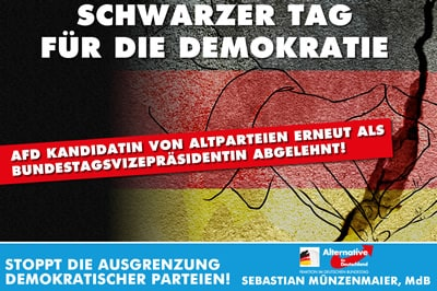AfD Kandidatin zur Wahl des Bundestagsvizepräsidenten abglehnt