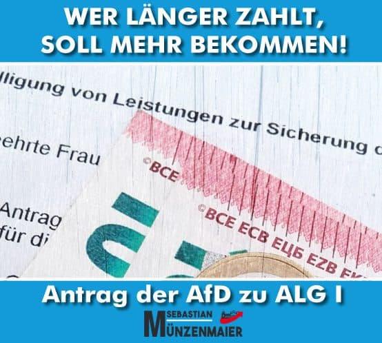 AfD Antrag zum ALG I