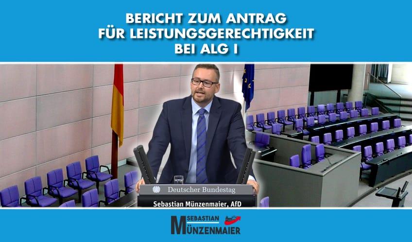 Bericht Antrag zu ALG I im Deutschen Bundestag
