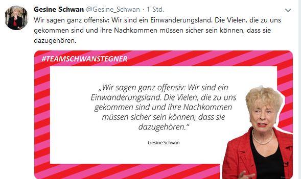 Gesine Schwan Twitter