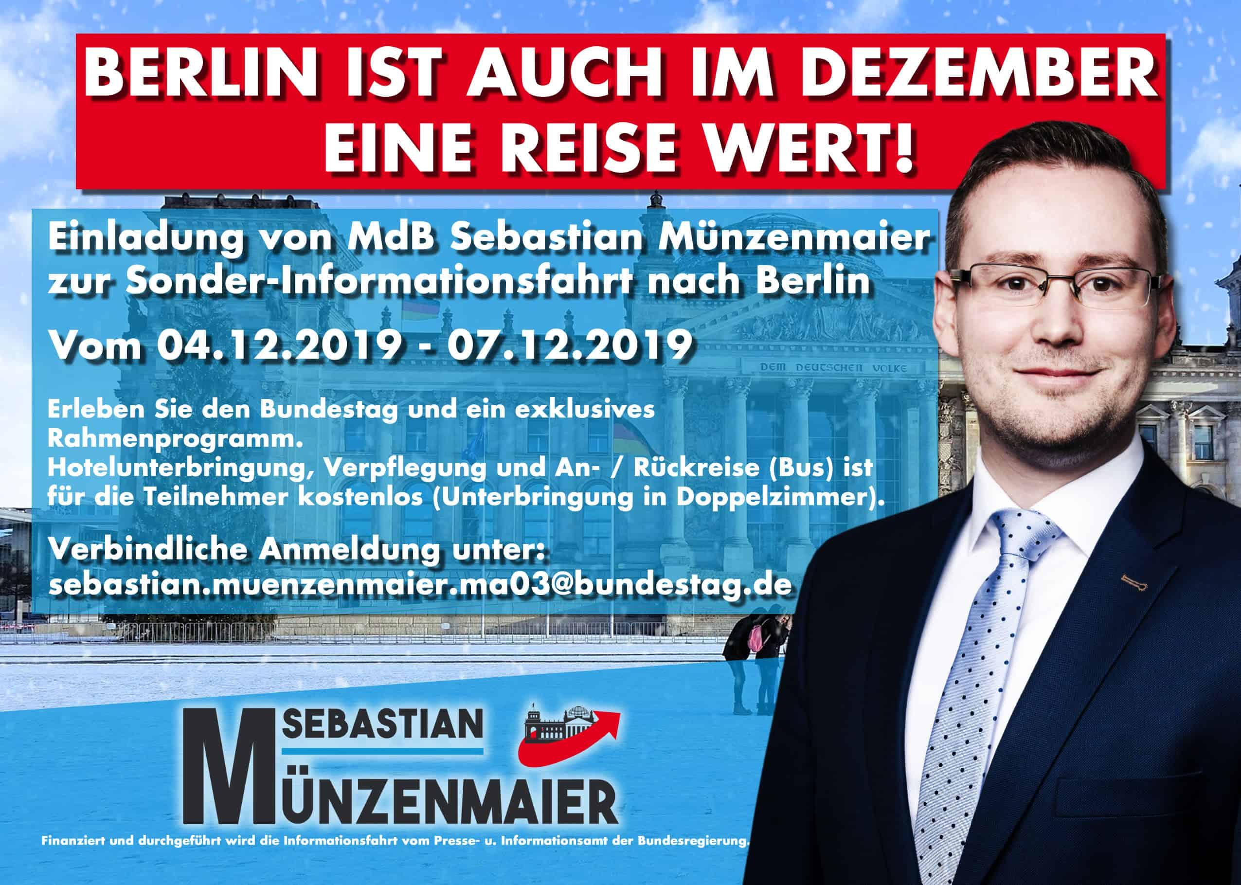 Münzenmaier, Besuch in Berlin im Dezember 2019
