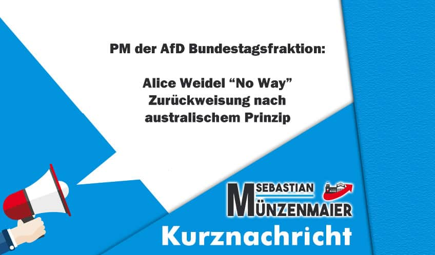 "Kurznachricht - Alice Weidel ""No-Way"""