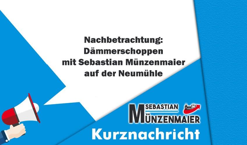 Kurznachricht - Dämmerschoppen in neumühle