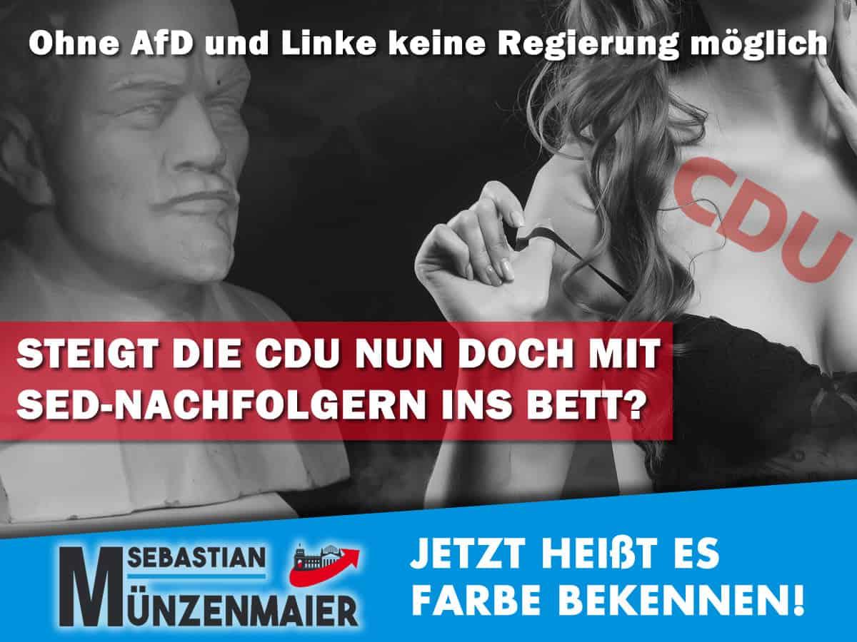 Fällt die CDU um und arbeitet mit der Linkspartei zusammen?