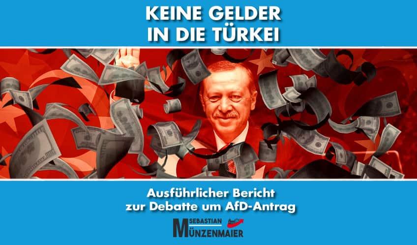 Debattenbericht - Keine Gelder mehr in die Türkei