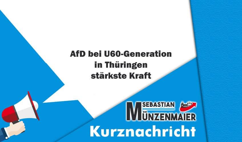 AfD bei U60-Generation in Thüringen stärkste Kraft