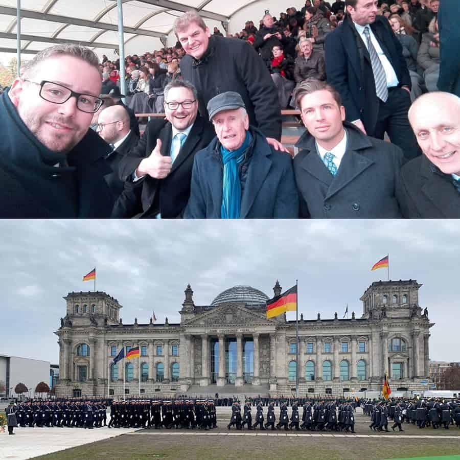 Feierliches Gelöbnis vor dem Bundestag