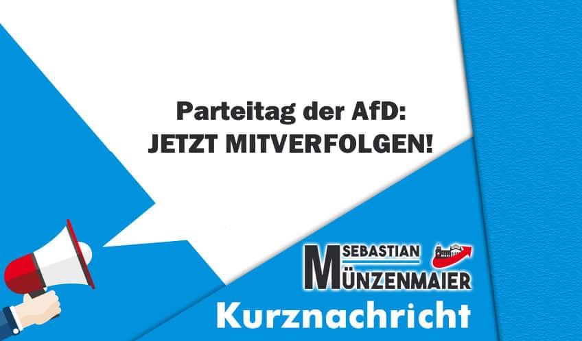 Parteitag der AfD: JETZT MITVERFOLGEN!