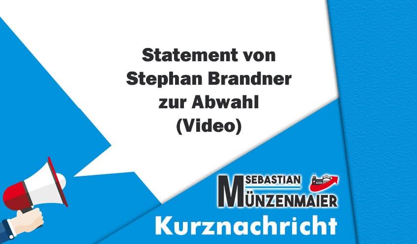 Statement von Stephan Brandner zur Abwahl