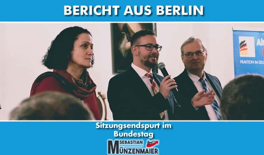 Bericht aus Berlin - Sitzungsendspurt im Bundestag