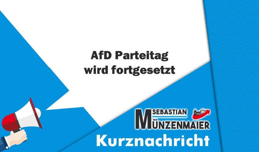 AfD Parteitag wird fortgesetzt