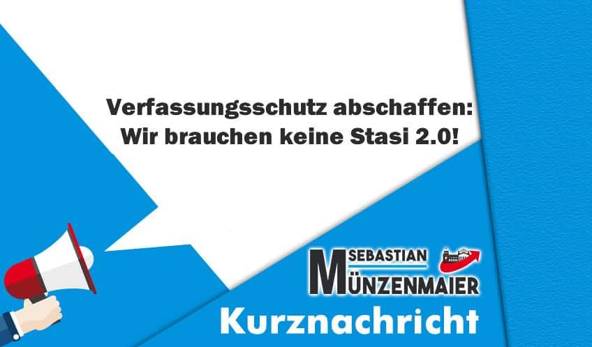 Verfassungsschutz abschaffen: Wir brauchen keine Stasi 2.0!