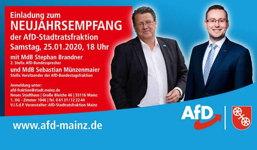 Neujahrsempfang der AfD-Stadtratsfraktion in Mainz
