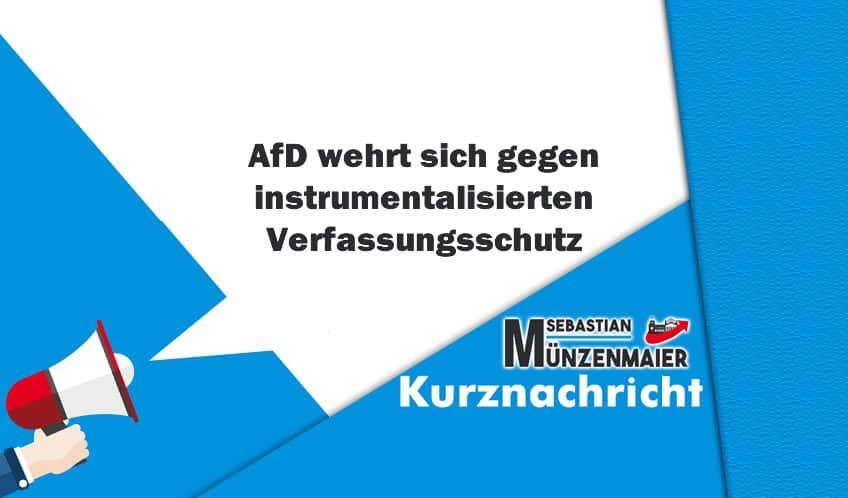 AfD wehrt sich gegen instrumentalisierten Verfassungsschutz