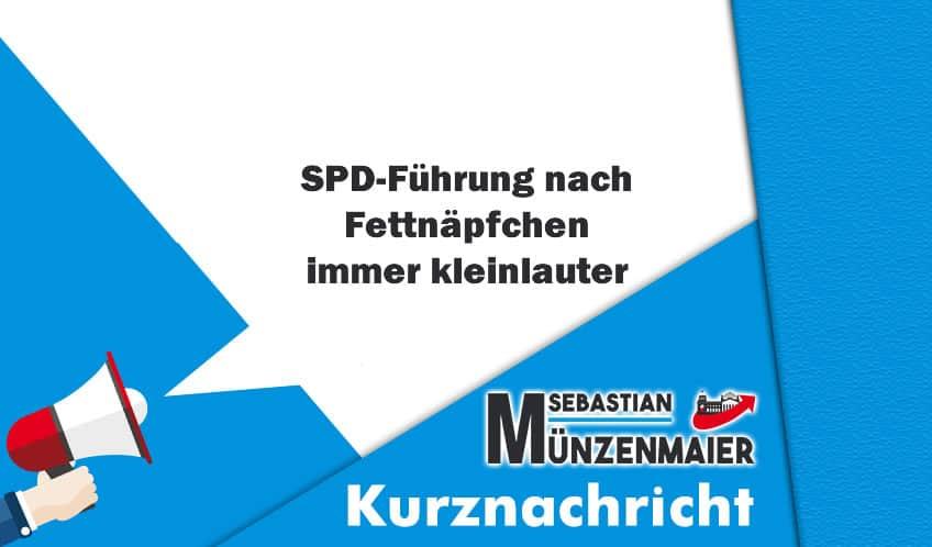 SPD-Führung nach Fettnäpfchen immer kleinlauter