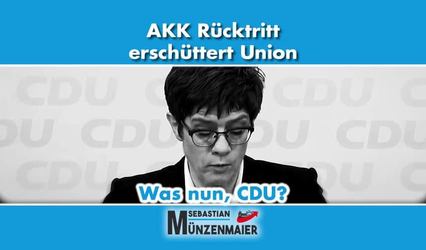 AKK Rücktritt erschüttert Union