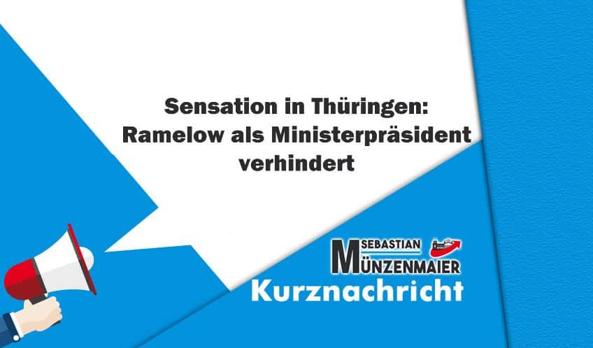 Sensation in Thüringen: Ramelow als Ministerpräsident verhindert