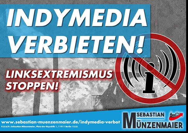 Indymedia Verbot Aufkleber