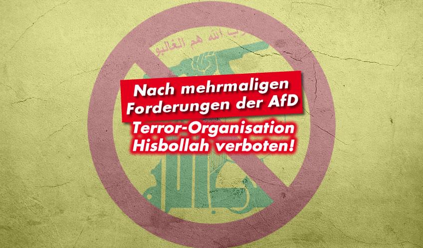 Terror-Organisation Hisbollah verboten