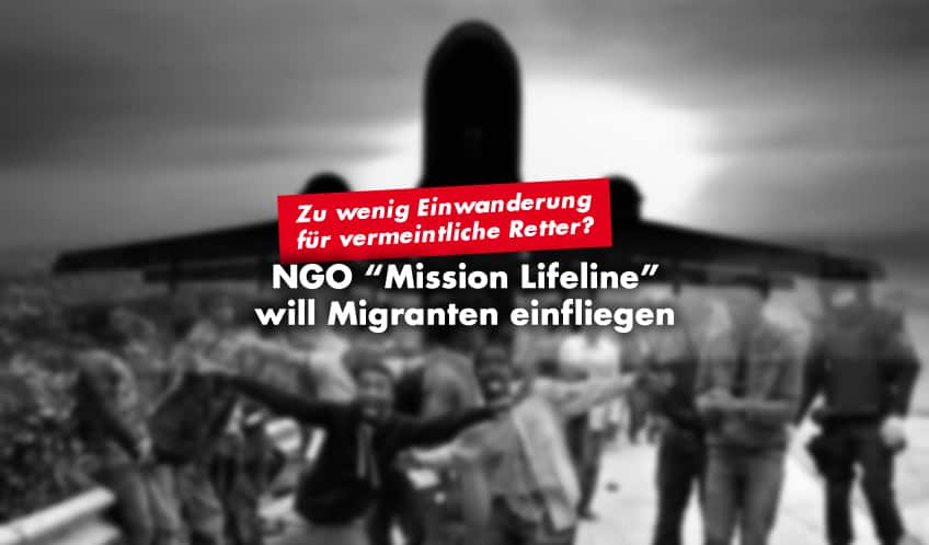 "Migrations-NGO ""Mission Lifeline"" will Migranten per Flugzeug holen"