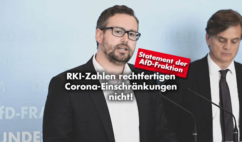 AfD-Fraktion: RKI-Zahlen rechtfertigen Corona-Einschränkungen nicht!