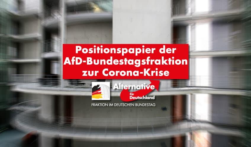 Positionspapier der AfD-Bundestagsfraktion zur Corona-Krise