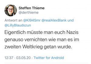 Steffen Thieme - Tweet AfD