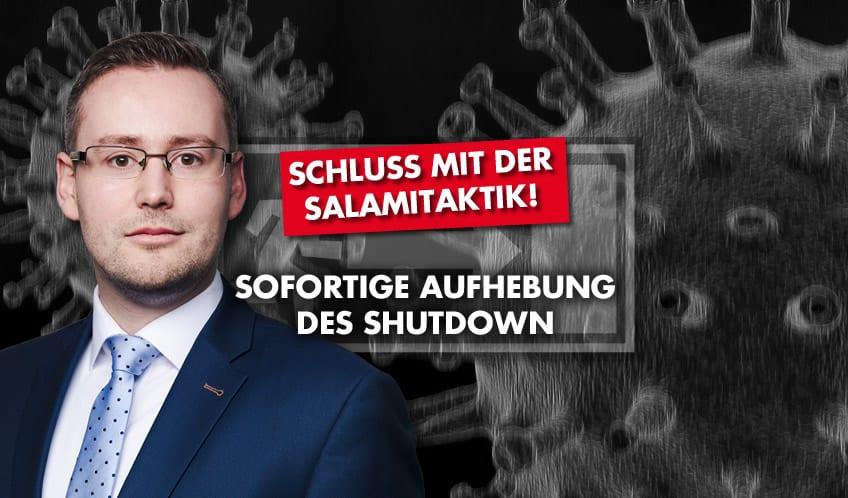 Schluss mit der Salamitaktik – sofortige Aufhebung des Shutdown