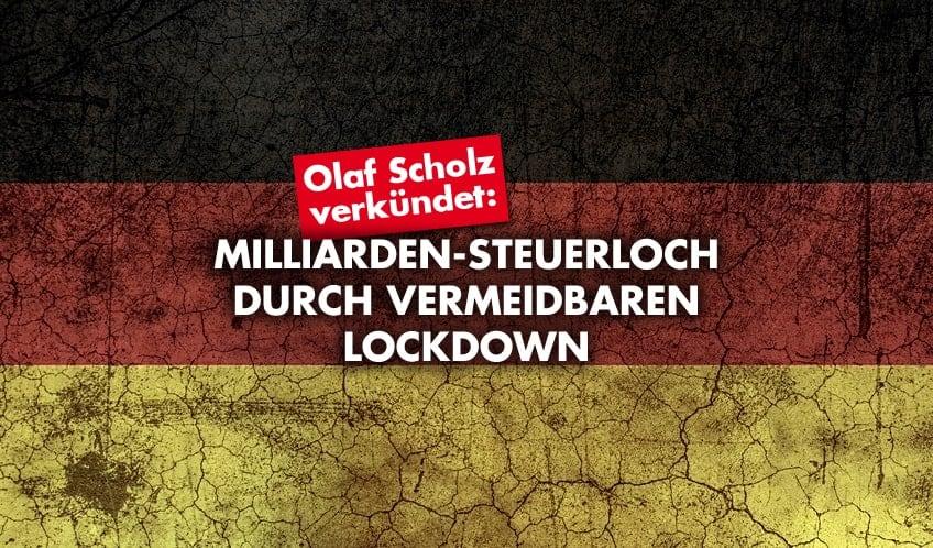 Scholz - Lockdown - Steuerloch