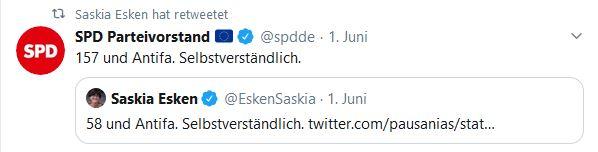 Saskia Esken & SPD Tweets - Antifa