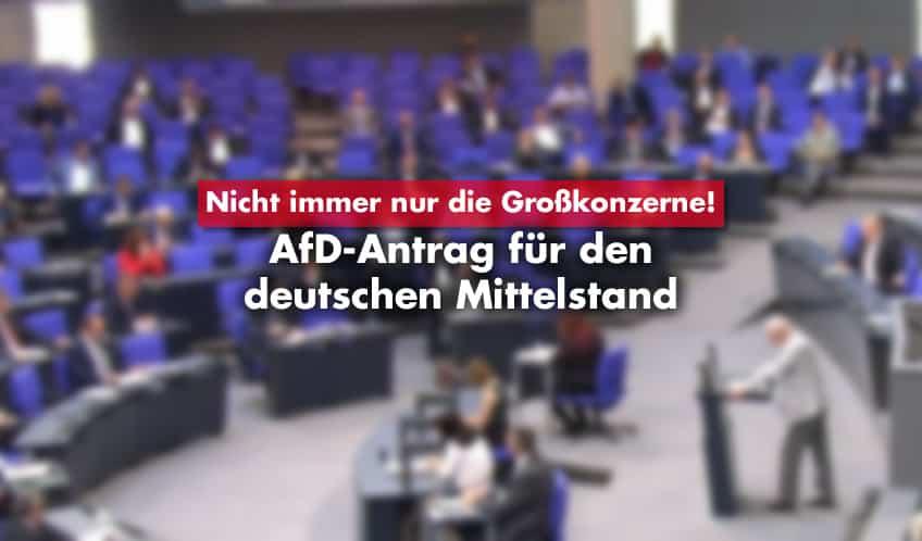 AfD-Antrag für den Mittelstand