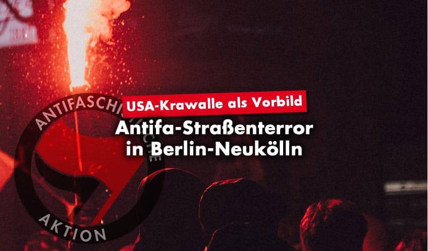 Antifa-Straßenterror in Berlin Neukölln