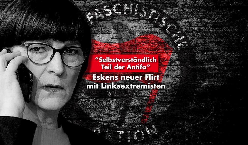 Saskia Esken, Antifa, Linksextremismus