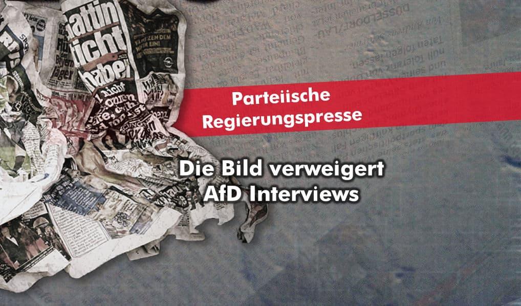 Bild Zeitung verweigert der AfD Interviews