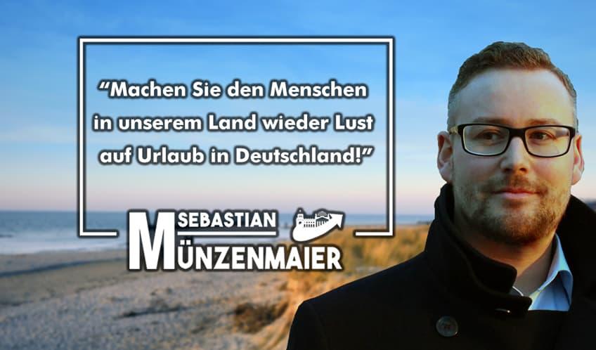 Sebastian Münzenmaier für die deutsche Reisewirtschaft