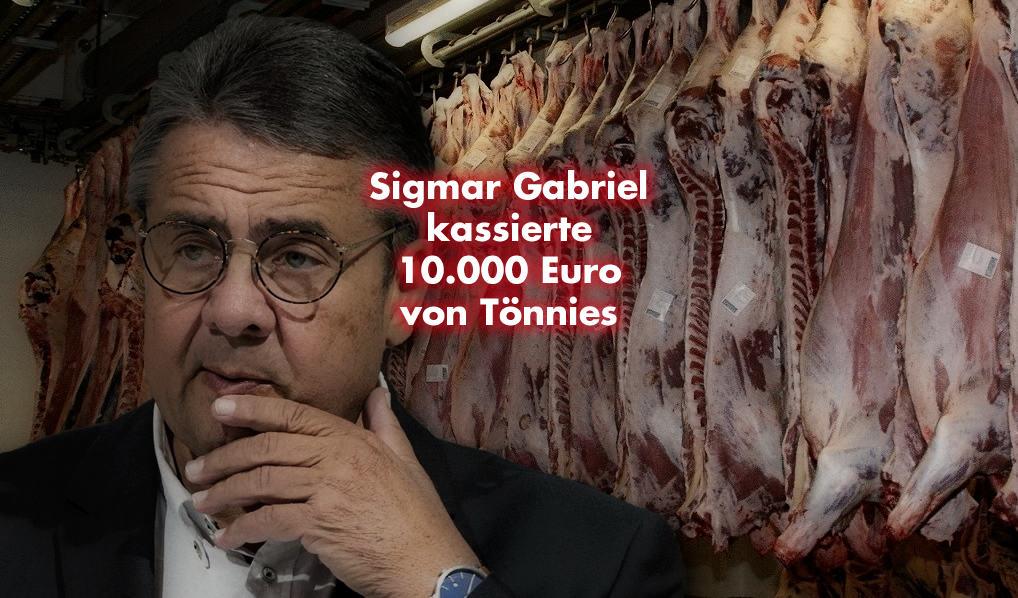Sigmar Gabriel kassierte 10.000 Euro von Tönnies