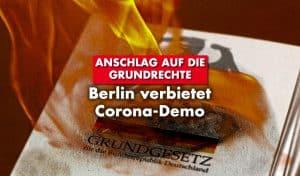 Corona-Demo in Berlin verboten
