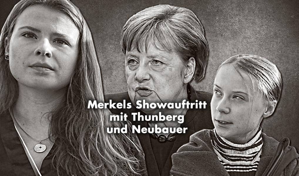 FridaysforFuture- Showauftritt: Merkel trifft Thunberg und Neubauer