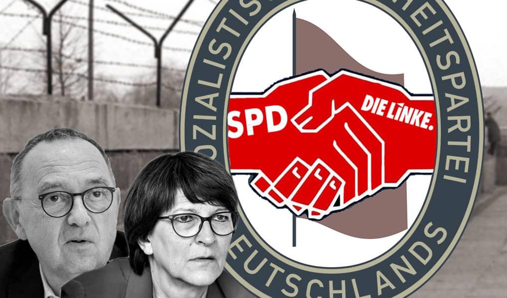 Sozialistische Einheitspartei SED (SPD und Linkspartei)